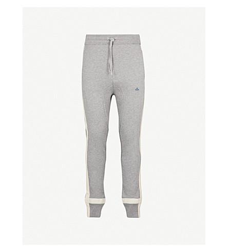 VIVIENNE WESTWOOD Skinny cotton-jersey jogging bottoms (Grey+marl