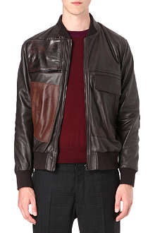 MAISON MARTIN MARGIELA Patchwork leather bomber