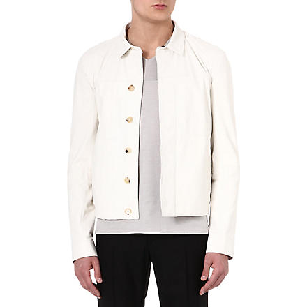 MAISON MARTIN MARGIELA Western leather jacket (White