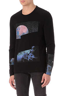 MAISON MARTIN MARGIELA Space graphic long-sleeved t-shirt