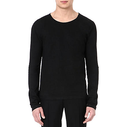 MAISON MARTIN MARGIELA Long-sleeved cotton top (Black