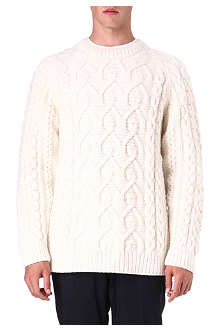MAISON MARTIN MARGIELA Cable fisherman knitted jumper