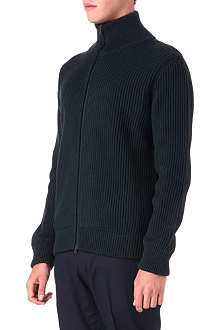 MAISON MARTIN MARGIELA Trucker ribbed knit cardigan
