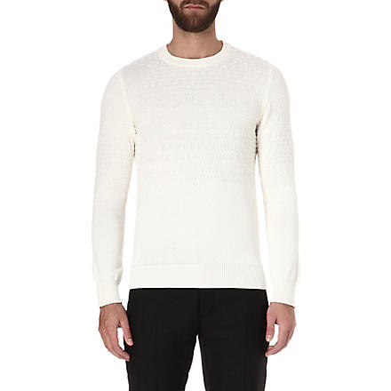 MAISON MARTIN MARGIELA Argyle knitted jumper (White