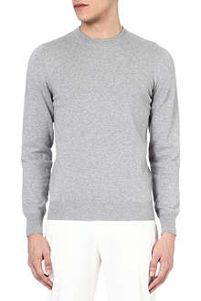 MAISON MARTIN MARGIELA Suede elbow-patch jumper