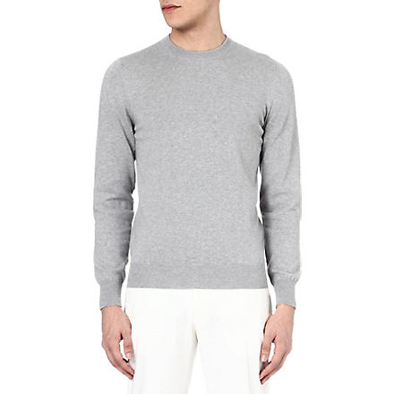 MAISON MARTIN MARGIELA Suede elbow-patch jumper (Grey