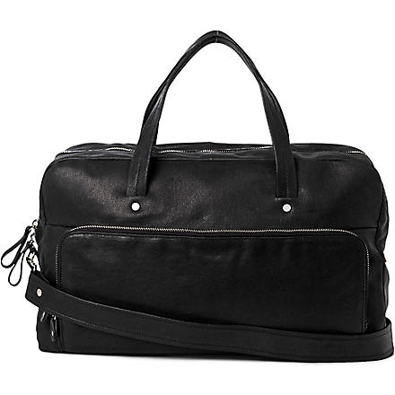 MAISON MARTIN MARGIELA Leather holdall bag (Black