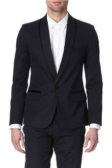 MAISON MARTIN MARGIELA Shadow-striped shawl-collar blazer
