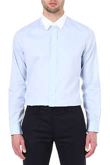 MAISON MARTIN MARGIELA 10+14 white-collar single-cuff shirt