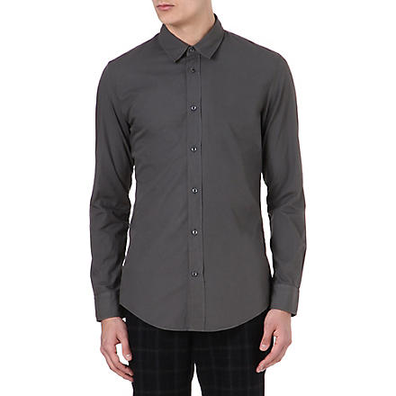 MAISON MARTIN MARGIELA Regular-fit cotton-poplin shirt (Grey