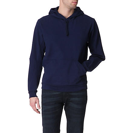 MAISON MARTIN MARGIELA Stretch-cotton hoody (Blue