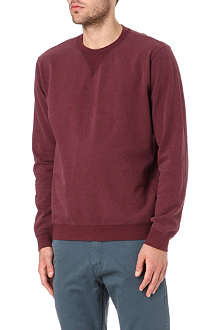 MAISON MARTIN MARGIELA Leather elbow-patch sweatshirt