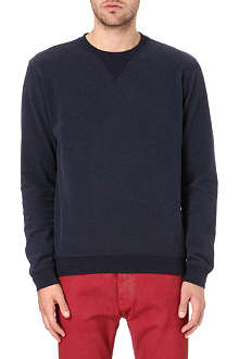MAISON MARTIN MARGIELA 10+14 leather elbow-patch sweatshirt