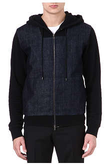MAISON MARTIN MARGIELA Denim panel hoody