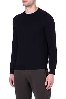 MAISON MARTIN MARGIELA 10+14 elbow-patch knitted jumper