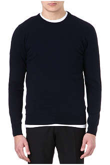 MAISON MARTIN MARGIELA Leather elbow-patch jumper