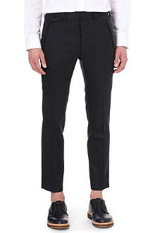 MAISON MARTIN MARGIELA 10+14 slim-fit cropped trousers