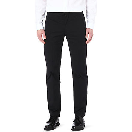 MAISON MARTIN MARGIELA Slim-fit cotton trousers (Black