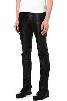 MAISON MARTIN MARGIELA Slim-fit leather trousers
