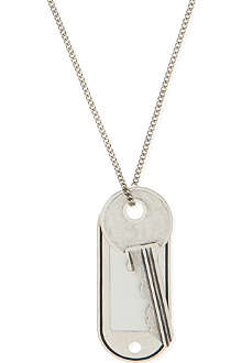 MAISON MARTIN MARGIELA Dog tag and key 11 necklace