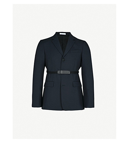 JIL SANDER Prisca tape-detail wool jacket (Navy
