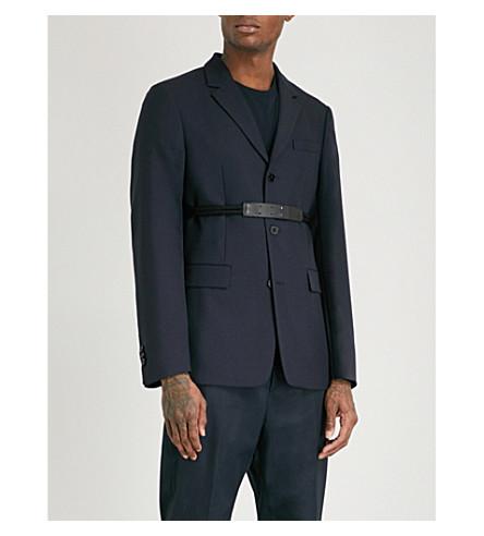 JIL SANDER Prisca tape-detail wool jacket (Navy