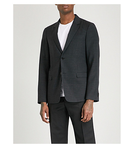 JIL SANDER Paola tailored-fit wool jacket (Charcoal