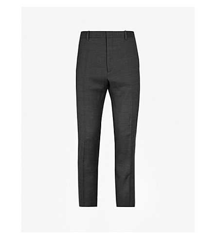 JIL SANDER Paolo regular-fit straight wool trousers (Charcoal