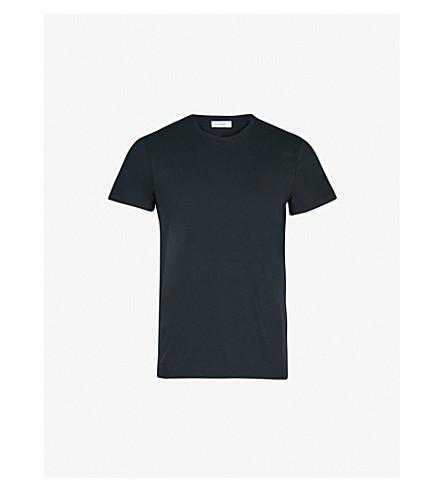 JIL SANDER Crewneck cotton-jersey T-shirt (Navy