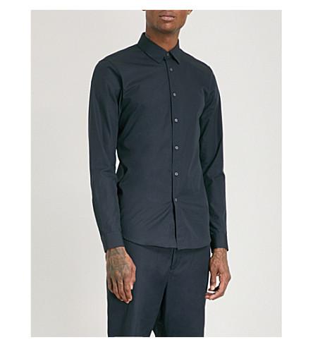 JIL SANDER Baia slim-fit cotton-poplin shirt (Navy