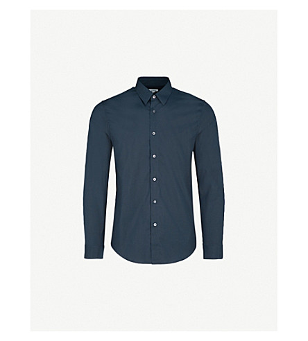 JIL SANDER Baia slim-fit cotton-poplin shirt (Navy