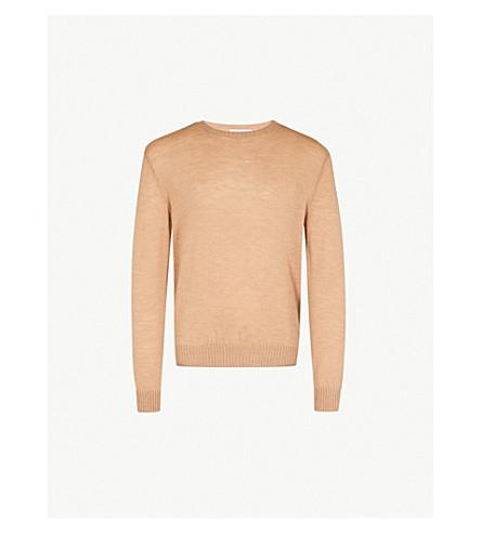 JIL SANDER Dropped-sleeve wool jumper (Camel