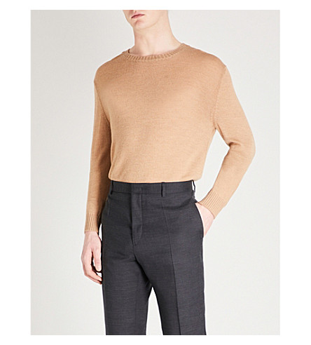 JIL SANDER Dropped-sleeve wool jumper (Camel