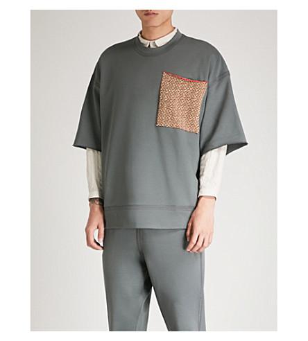 JIL SANDER Patch pocket cotton-jersey sweatshirt (Dark+grey
