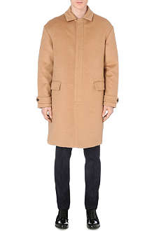 VALENTINO Camel-hair camo-lined coat