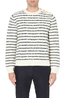 VALENTINO Nautical button-detail wool jumper