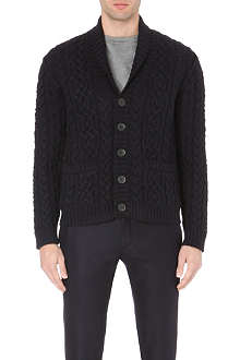 VALENTINO Ship-detail cable-knit cardigan