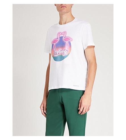 T print Bianco VALENTINO cotton VALENTINO jersey Loving Loving shirt 7qSWRwzY