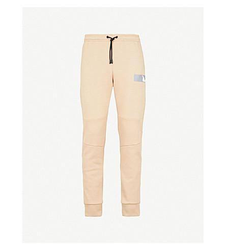 FENDI Metallic-logo cotton-jersey jogging bottoms (Beige