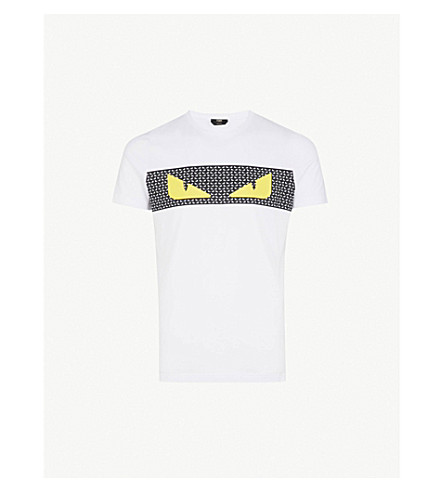 FENDI Monster eyes cotton-jersey T-shirt (White
