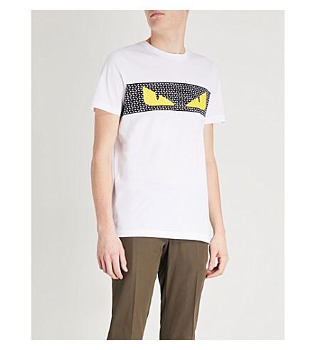 FENDI Monster eyes cotton-jersey T-shirt (White