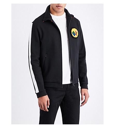 FENDI High-neck jersey sports jacket (Blk