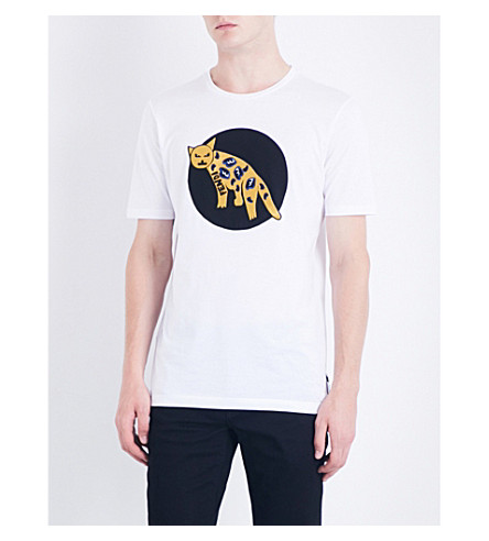 FENDI Jaguar-appliqué cotton-jersey T-shirt (White