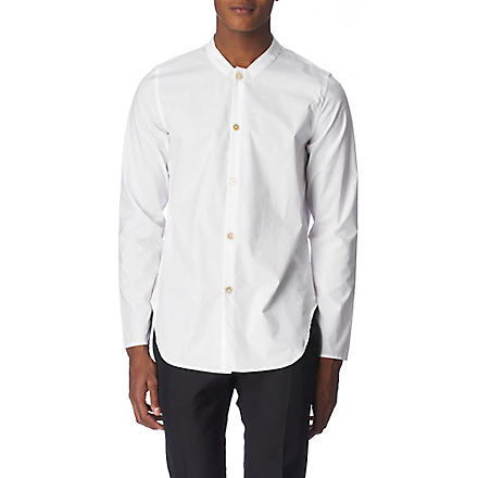 PAUL SMITH MAINLINE Grandad regular fit single cuff shirt (White