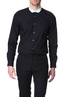 PAUL SMITH MAINLINE Penny-collar slim fit single cuff shirt