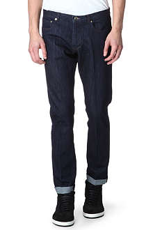 PAUL SMITH MAINLINE Pleated slim-fit jeans