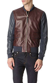 PAUL SMITH MAINLINE Leather bomber jacket