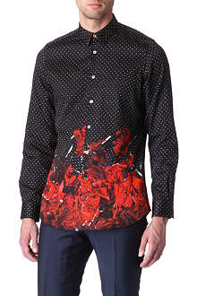 PAUL SMITH MAINLINE Polka dot rose-print shirt