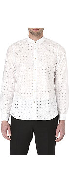 PAUL SMITH MAINLINE Pointelle polka dot single-cuff shirt