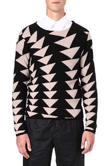 PAUL SMITH MAINLINE Triangle intarsia jumper